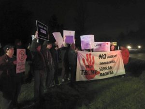Protesting with DREAMers at a Trump Rally in 2015